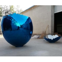 China Jeff Koons Abstract Eggshell Sculpture Stainless Steel Modern Art Decoration factory