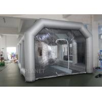 China 8m Oxford Cloth Inflatable Spray Booth With 4 Filters For Car Washing / Painting factory
