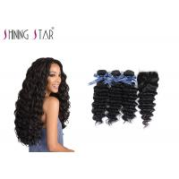 China Deep Curly Unprocessed Remy Hair Extensions Weave For Black Woman 350g factory