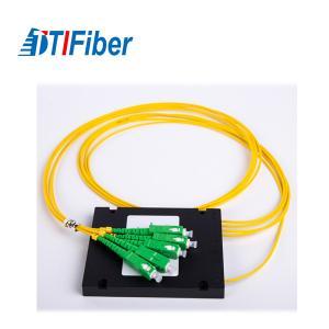 China 1X4 ABS Coupler Fiber Optic Splitter Plc 2.0mm Cable SC/APC PC UPC Connector on sale