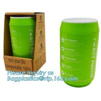 China Coffee cup, PLA compostable cups, water cup, compostable cupcake coffee, disposable coffee cup factory