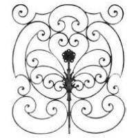 China hebei factory forged wrought iron scroll rosette factory