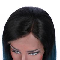 China Brazilian Virgin Hair Lace Front Wig Ombre 1B/green factory