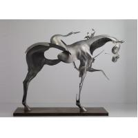 Buy cheap 170cm Life Size Abstract Stainless Steel Horse Sculpture Brushed Finishing from Wholesalers