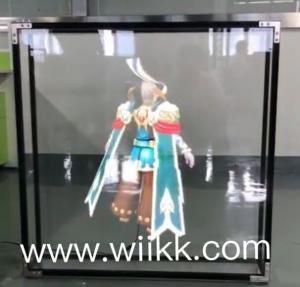 Portable 65cm App 3D Hologram Kit Led Advertising Fan 2 Wings 1600*720 Resolution