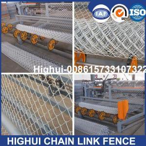 China China High Speed  Sport Fence Mesh Making Machine,Diamond fence making machine , chain link fence machine factory