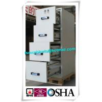 China Steel Waterproof Fire Resistant File Cabinet , Two Drawer Fire Rating Storage Cabinet factory