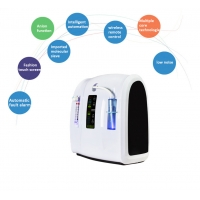 China 5 LPM Portable Oxygen Concentrator 110V 220V With LED Timer Display factory