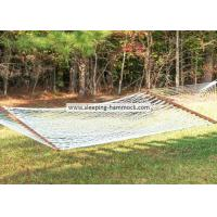 Buy cheap Soft Spun Polyester Single Person White Rope Hammock  With Solid Hardwood Spreader Bars from Wholesalers