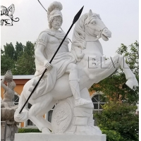 China marble greek warrior sculpture life size stone carved garden statue factory