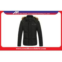 China Black Thick Winter Lightweight Down Jacket With Hood , Mens Casual Overcoat factory