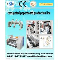 Buy cheap Two Ply Corrugated Carton Packing Machine with Single Facer Production Line , 1600mm from Wholesalers
