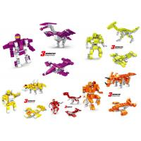 Transformer Dinosaur Robot Plastic Interlocking Building Blocks 6 Styles Convertable