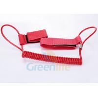 Buy cheap 1.5M Long Quality Red Plastic Spring Coil Fishing Lanyard With  Strap 2pcs from Wholesalers