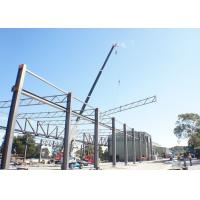 Buy cheap Unique Column Removing Truss Steel Structure , Grey Steel Building Workshop from Wholesalers