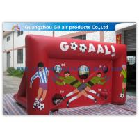 China Red Funny Boys Inflatable Football Game / Inflatable Sports Arena For Ball Shooting factory