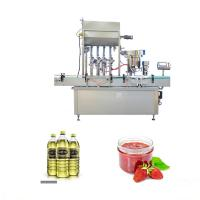 China Pneumatic System Essential Oil Filling Machine For Soy Bean / Palm / Oliver Oil factory