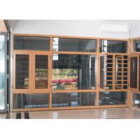 China Contemporary Aluminum Windows And Doors Yellow Overall Easy Clean Powder Coated factory