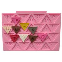 Quality Harmless Letter Flag Lace Silicone Cake Molds for Cake Decorating / Chocolate Baking for sale