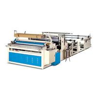 Buy cheap Automatic toilet roll towel rewinding embossing perforated machine from Wholesalers