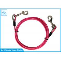 China Safe And Secure Pet Tie Out Cable Coated Steel Dogs Camping Cable factory