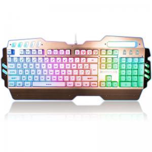 USB 2.0 Rainbow LED Backlight Illuminated Gaming Keyboard Blue Switches 104 Keys