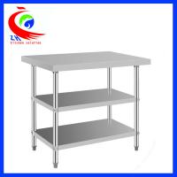 Buy cheap 304  stainless steel commercial kitchen tables 3 layers durable from Wholesalers