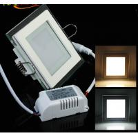China Round and Square design of Glass recessed LED panel light flat SMD5730 Epistar 6W factory