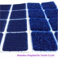 Buy cheap Square Type Hook And Loop Fabric Sheets , Blue  Sticky Pads A Garde from Wholesalers