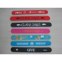 Buy cheap silicone slap snap wristband bracelet with soft silicone costing ,silicone bracelet from Wholesalers
