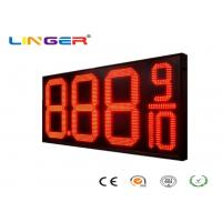 China 12 Inch Red Color Four Digits LED Gas Price Display for Petrol Station factory