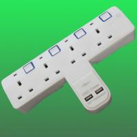 China UK / British WALL USB power Socket, 4 outlets CE BS factory