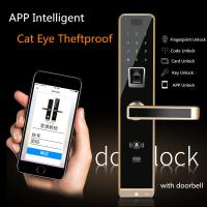 Buy cheap 6 Unlock Ways Intelligent Door Lock With APP Remote Control & Anti Cat Eye Functions from Wholesalers