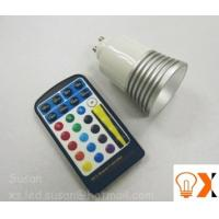 China 5w/80mm×50mm RGB color changing led GU10 light bulb and remote AC90 - 240V,50-60 Hz on sale