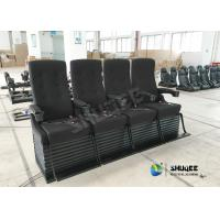 China Special Effect Custom 4D Movie Theater Motion 4D Chairs Red / Black For Shopping Mall factory