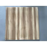 Buy cheap Professional Wooden Flat PVC Ceiling Tiles With Stable Material 595mm / 603mm from Wholesalers