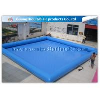 China Summer Party Inflatable Family Swimming Pool , Large Portable Swimming Pool For Rent factory