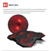 black Cooling Pad Adjustable Angle Speed Stand with 4 LED Fans and 2pcs USB Ports for laptop