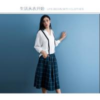 cotton blue & white gingham dress fashionable n casual