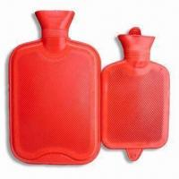 China Hot Water Bottles, Made of Rubber, Measures 400 to 3,000cc factory