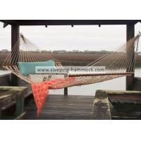 Buy cheap Large Two Person Polyester Rope Hammock Oatmeal , 55 Inches Classic Rope Hammock from Wholesalers