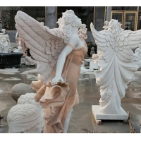 China Marble Angel Sculpture Greek Life Size Natural Stone Garden Statue factory