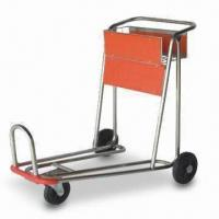 China Shopping Cart with 100kg Loading Capacity, Steel Frame and Plastic Pallet factory