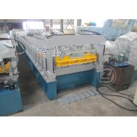 Buy cheap 20-25m/min Trapezoidal Profile Roll Forming Machine With Cr12 Mould Steel Cutter from Wholesalers