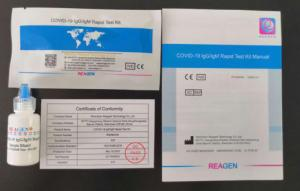 China COVID-19 IgG/IgM Rapid Test Kit Manual with CE certificate factory