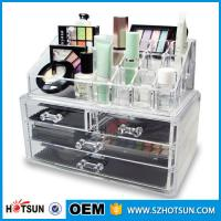China Acrylic Cosmetic Storage Display Boxes, Wholesales cosmetic organizer with drawers,hot sales acrylic makeup organizer factory