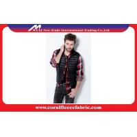 China Front-Zip Packable Lightweight Quilted Mens Down Puffer Vest With Standing Collar factory
