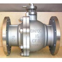 DN100 Stainless Steel Pneumatic Ball Valve / Floating Ball Valve With Flange Connection