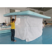 China Portable Inflatable Floating Ocean Sea Swimming Pool / Protective Anti Jellyfish Pool With Netting Enclosure For Yacht factory