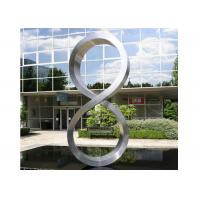 Buy cheap Number Eight Large Steel Sculptures , Stainless Steel Garden Sculptures from Wholesalers
